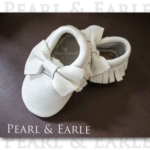 White Baby Shoes, Baby Shoe, White Baby Clothes, Purple Toddler, White Moccasins, Leather Moccasins, Toddler Moccasins, Baby Moccasins
