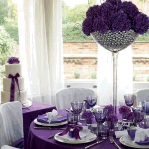 perfect purple table setting
