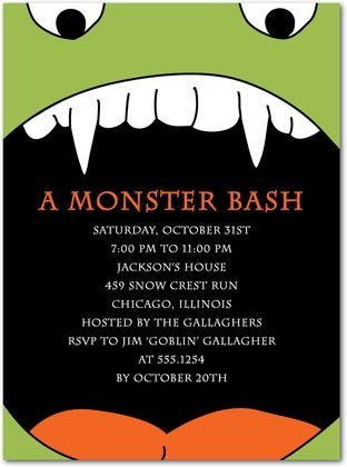 198 best halloween party invitations images on pinterest a monster bash halloween party invitations stopboris Gallery