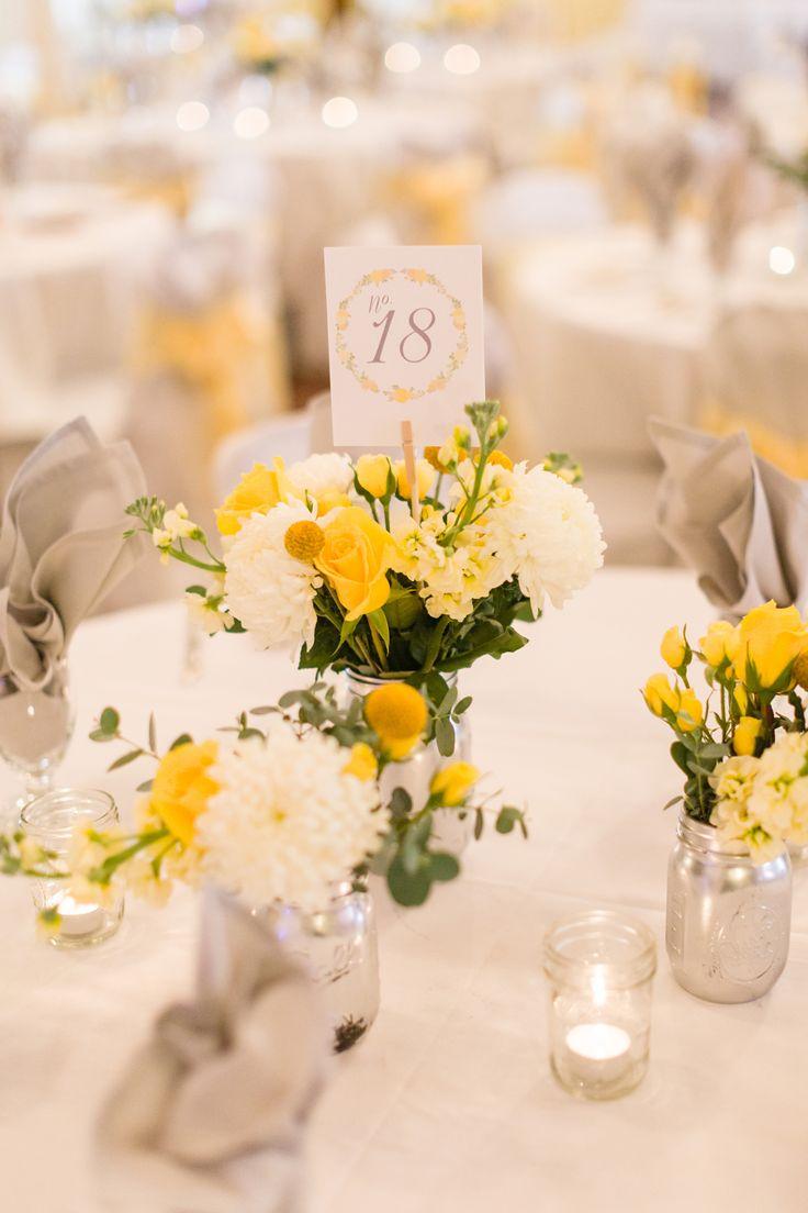 Best ideas about yellow centerpiece wedding on