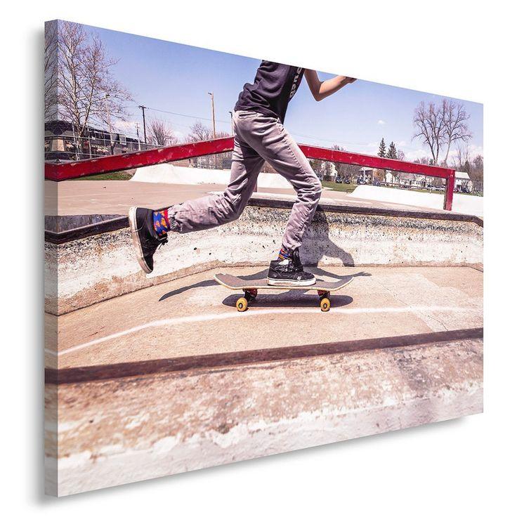 leinwandbild bilder wand bild wandbilder kunstdruck 40x60cm skate park - Skateboard Regal Kinder Schlafzimmer