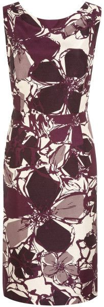 Jacques Vert Purple Contemporary Floral Dress