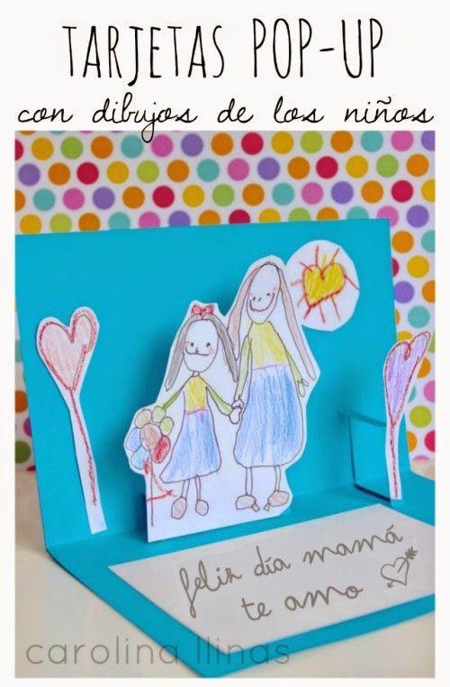 M s de 20 ideas incre bles sobre tarjetas pop up en pinterest - Postales navidad hechas por ninos ...