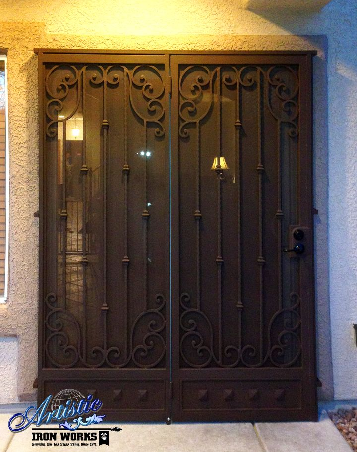 Corsica   Wrought Iron Patio Security Doors   Model: FD0082