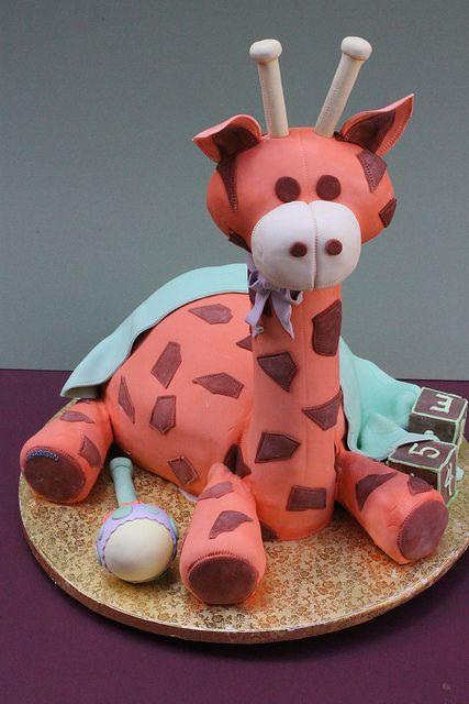 Baby Giraffe Baby Shower Cake