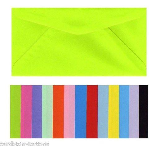 DL envelopes in many colours
