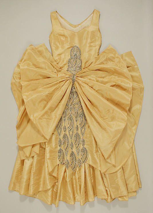 "Evening Dress, Eldridge Manning: 1927-29, American, silk/plastic/glass.    Marking: [label] ""Eldridge Manning, New York"""