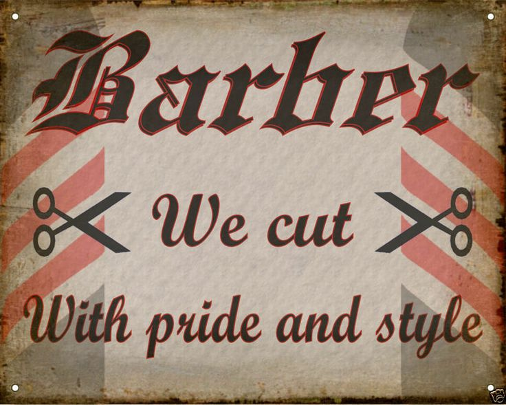 BARBER SHOP hair salon VINTAGE antique medieval SIGN wall decor ...
