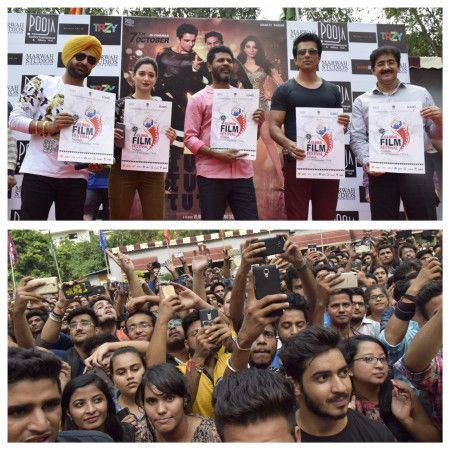 The biggest film festival of North India is just round the corner. The dates for the 9th Edition of the festival have been fixed for 17th to 19th of November, 2016. It was a grand day when a popular actor, director and dance maestro Prabhu Deva launched the new poster of 9th edition of Global Film Festival Noida 2016. Sandeep Marwah President Marwah Studios introduced the cast of Tutak Tutak Tutian to the huge audience at Noida Film City.
