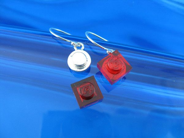 round single plate brick earrings work with lego - comes with a mini selection so you can add or change it up to match or contrast any outfit.