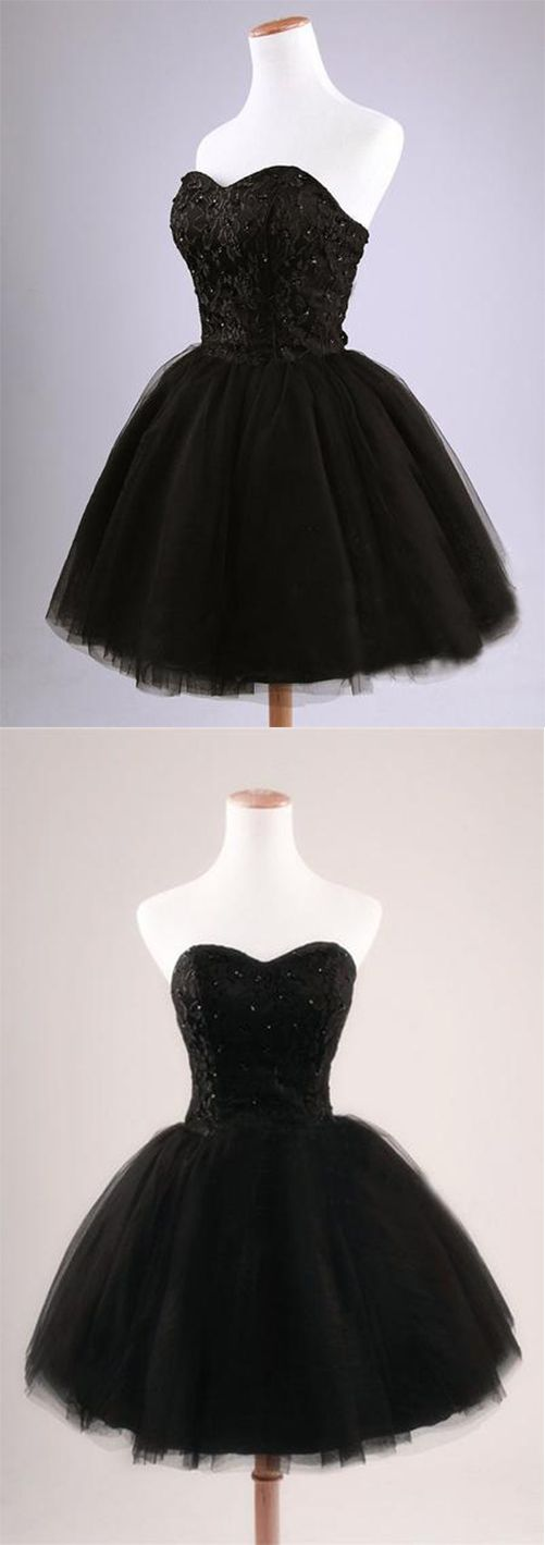 2017 Black Strapless Ball Gown Tulle Party Dress Short Celebrity dresses Evening dresses Homecoming Dresses Sexy Cocktail dresses,HG66