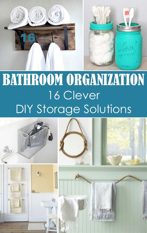 Small bathroom organization 16 clever diy storage for Compact bathroom solutions