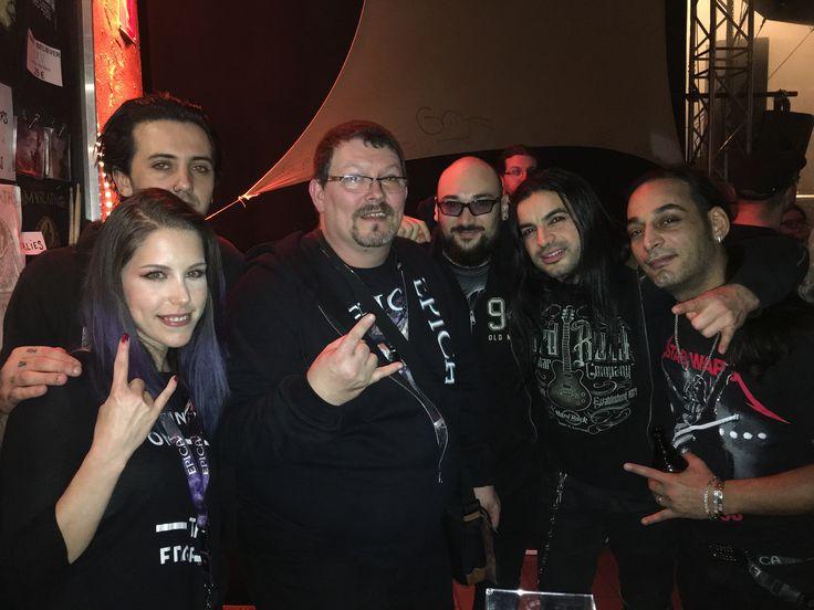 Myrath, Metalband from Tunisia (Zaher Zorgati, Malek Ben Arbia, Anis Jouini, Morgan Berthet and Kahina Spirit) @Essigfabrik Köln 14.11.2017