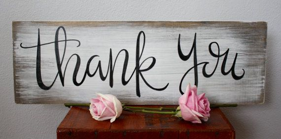 Thank You Sign wedding rustic wedding rustic by palaceandjames