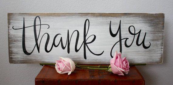 Thank You Sign wedding rustic wedding rustic by palaceandjames
