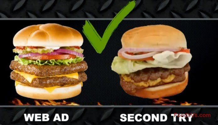 Clearly Baconator's don't look exactly the same in real life. Fast Food Advertising Versus Reality • BoredBug