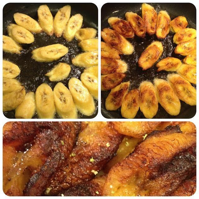 Les bananes jaunes (plantain) frites