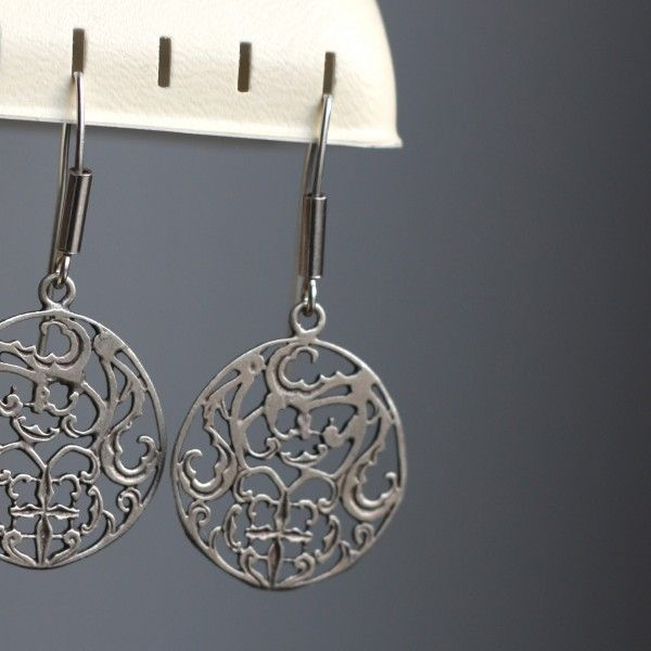 Lightweight handmade earrings with a great attention to details, made of 0.925 silver. Wonderfully looks in a set with ring, bracelet and pendant. The ideal choice for the unique gift.