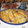 Fried fish for Polish Christmas Eve dinner or wigilia.