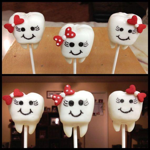 Adorable Tooth (Teeth) Cake Pops Follow Phan Dental Today!  https://www.facebook.com/phandentalyeg https://twitter.com/PhanDental