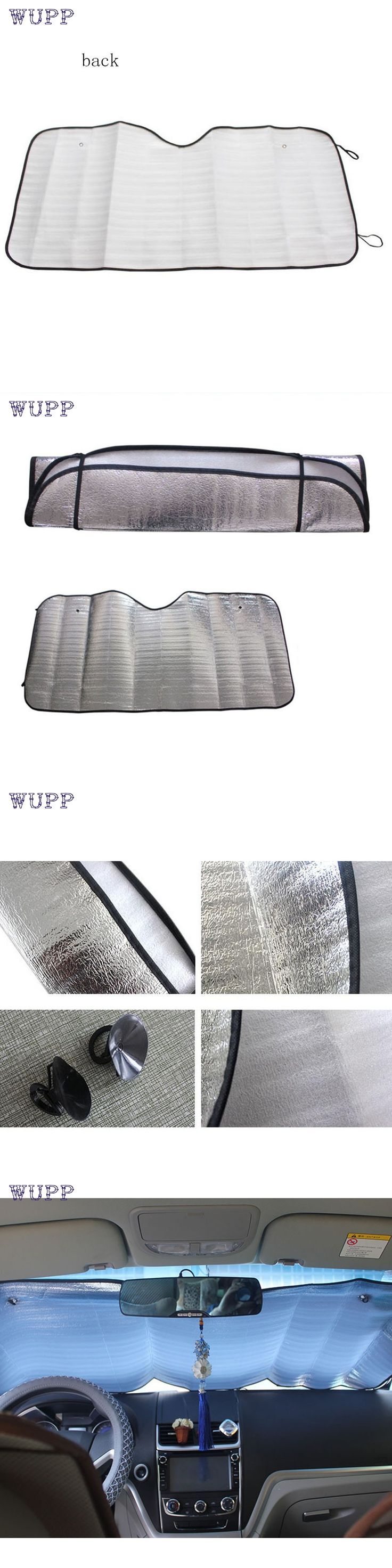 wupp Top Quality car-styling 1Pc Casual Foldable Car Windshield Visor Cover Front Rear Block Window Sun Shade Jun.27