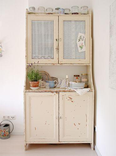 Vintage Shabby Chic Kitchen Cabinets