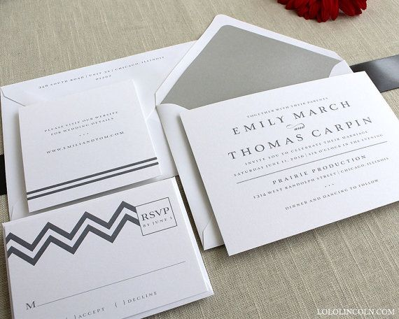 Chevron Wedding Invitation SAMPLE