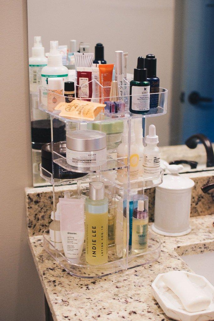 How I Organize My Skincare Makeup Care Organization Makeup Skin Care Beauty Organization