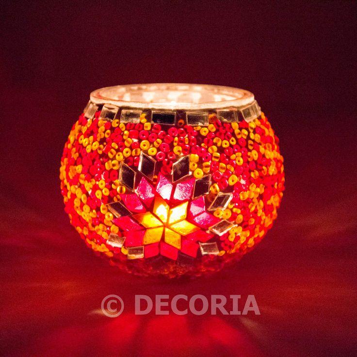 Candle Holder - Orange - DECORIA HOME & GIFT