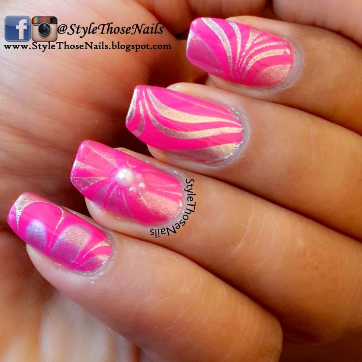 Pink Watermable - Breast Cancer Awareness Manicure