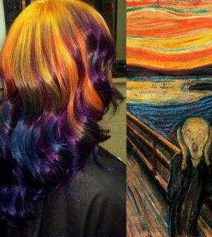 Un'opera d'arte … tra i capelli!
