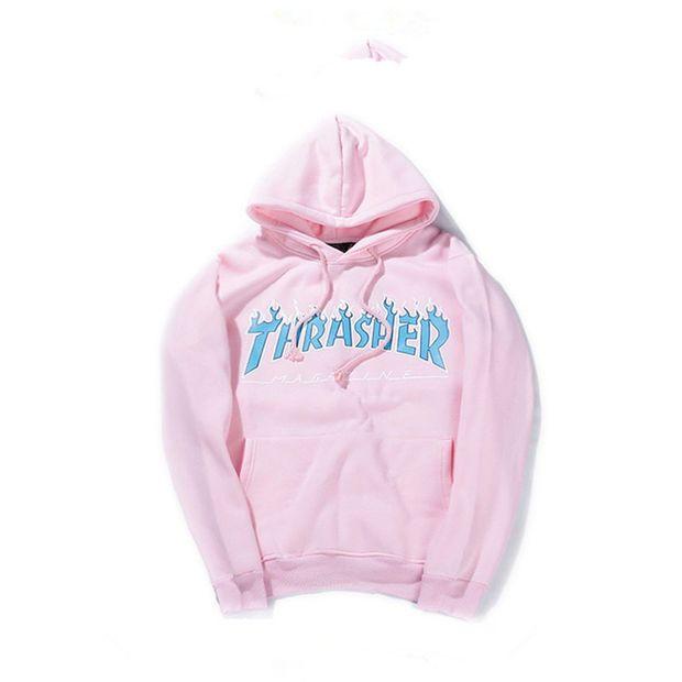 Thrasher Magazine Flame Logo Pink Hoodie