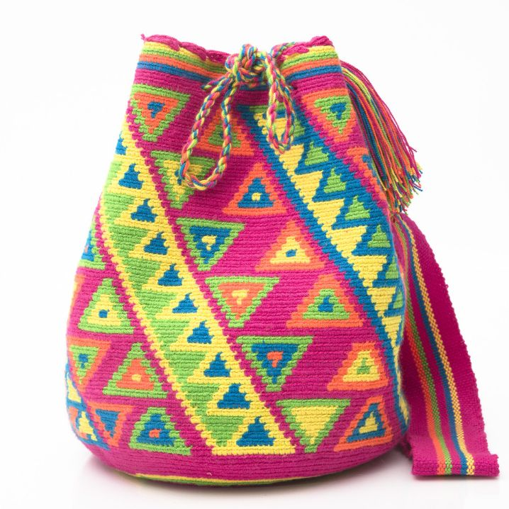 AUTHENTIC HANDMADE WAYUU MOCHILA BAGS | WOVEN BY THE INDIGENOUS WAYUU TRIBE OF…