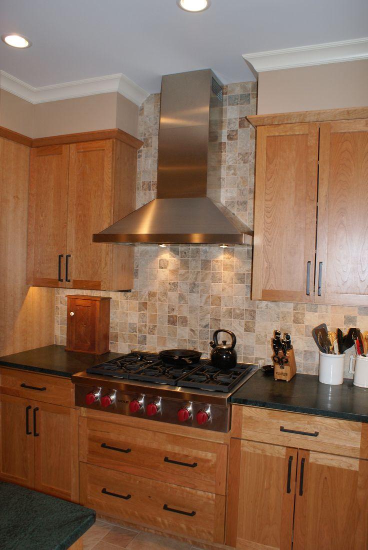 Backsplash Tile To Ceiling Behind Range Hood Kitchens In
