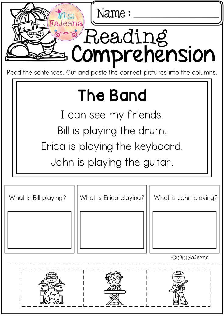 Free Reading Comprehension Cut and Paste has 10 pages of reading comprehension with cut and paste. Children will answer the questions by cut and paste the correct picture into the question columns.   Preschool | Preschool Worksheets | Kindergarten | Kindergarten Worksheets | First Grade | First Grade Worksheets | Reading| Reading Comprehension | Free Reading Comprehension Cut and Paste | Reading Comprehension Literacy Centers | Free Lessons | Worksheets
