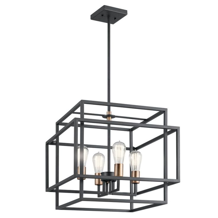 Kichler Lighting Taubert Collection 4-light Black Pendant (Steel)