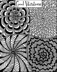 Helen Breil texture sheet based on Zentangle designs. I visited Helen's website and found fantastic tangles that are truly Zen.