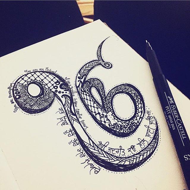 the artist's canvas  Beautiful beautiful beautiful Ik Onkar drawing by @harleen_kaur