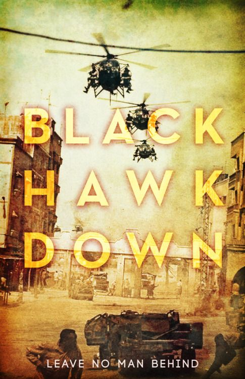 Black Hawk Down (2001) ~ Alternative Movie Poster by Benjamin Capazo #amusementphile