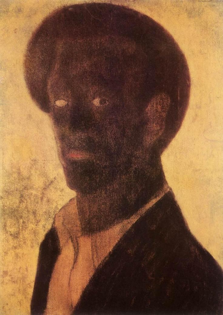 VAJDA, Lajos - Black Self Portrait