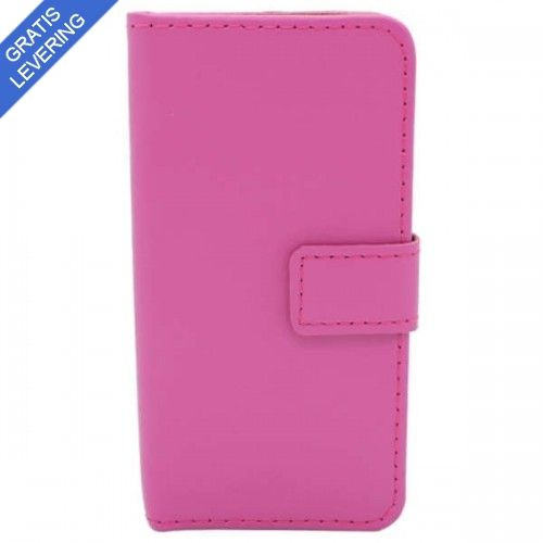 Pink iPhone 5/5S Læder Etui