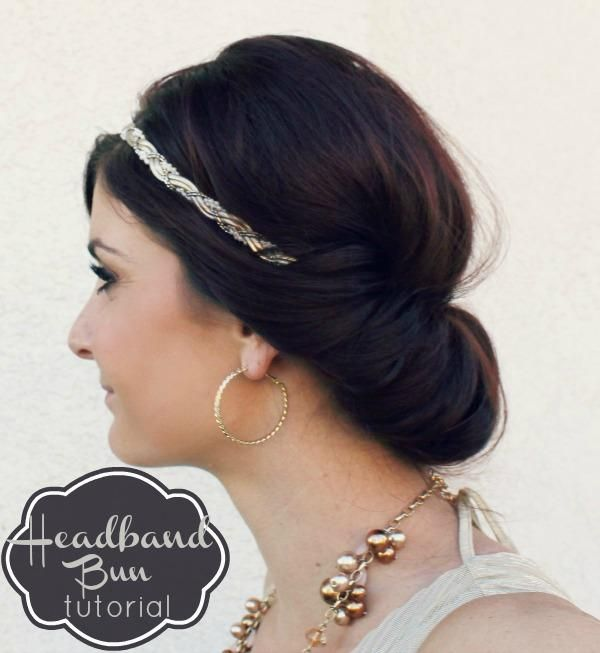 DIY Headband Bun Hair- just in case I need a backup plan
