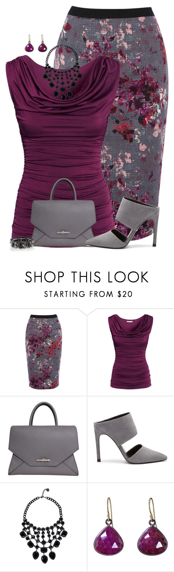 """""""Floral Pencil Skirt"""" by maggiesuedesigns ❤ liked on Polyvore featuring Oasis, H&M, Givenchy, Whistles, Boohoo and Solow"""