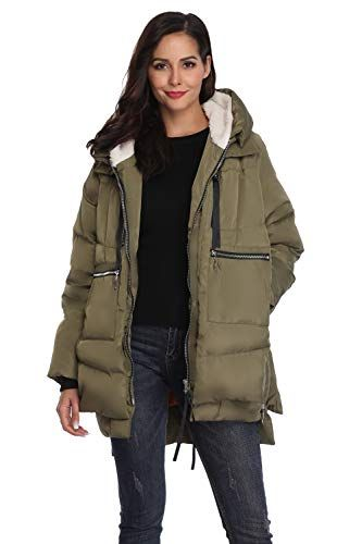 01ae1a44a Great for Shanghai Bund Women's Thickened Down Jacket with Hood ...