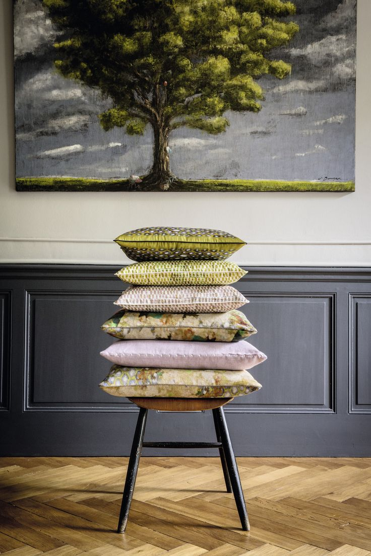 Silk and linen cushions #elitis, #cushion, #linen, #silk, #spring
