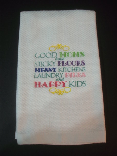 Embroidered kitchen bathroom hand towel good mom christmas