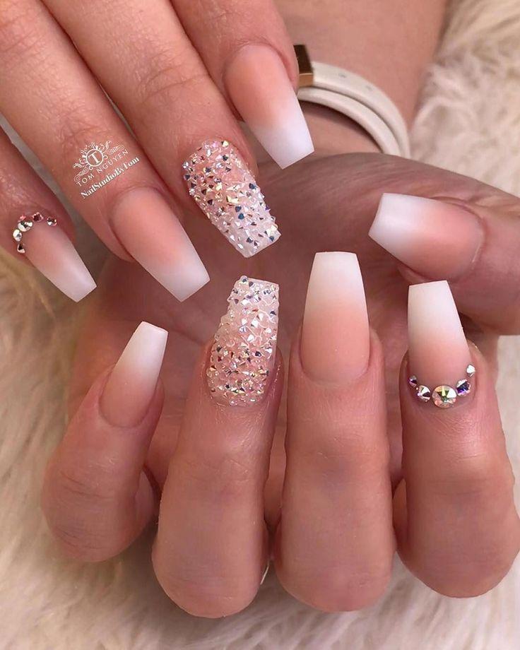 Acrylnagel Designs Die Atemberaubende Acrylnageldesigns Sind Nail Bride Nails Ombre Acrylic Nails Prom Nails