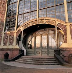 Art nouveau, entrance coal mine in Dortmund, Germany.