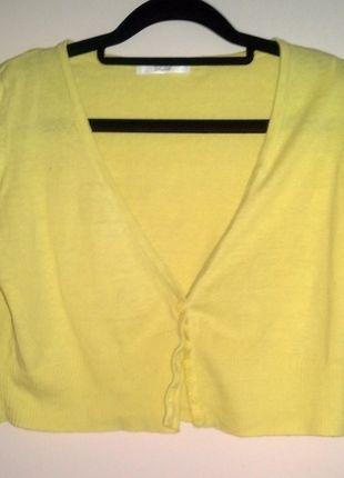 Kup mój przedmiot na #vintedpl http://www.vinted.pl/damska-odziez/bolerka/11512487-krotki-zolty-sweterek-marks-spencer-bolerko