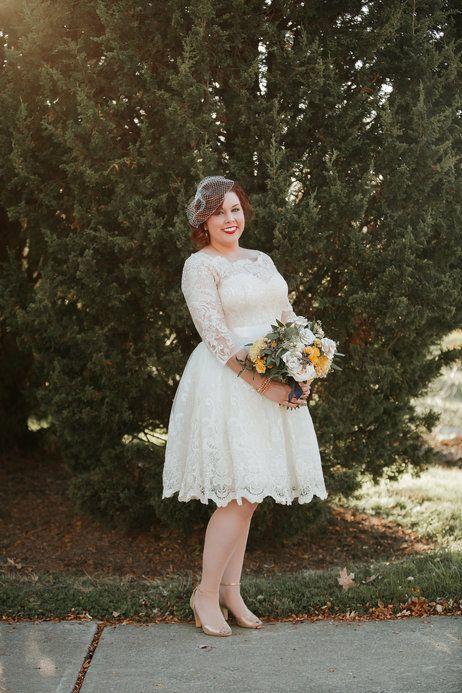 Chi Chi London Gilded Grace Lace Dress in 2019 | Plus size wedding dress short, Civil wedding dresses, Dresses